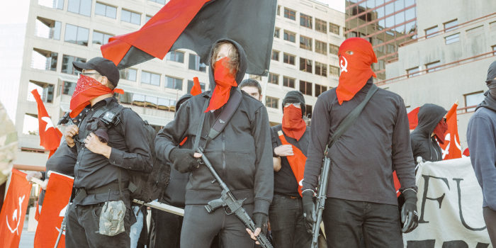 "Armed Antifa group declares ""Everywhere a battlefield"""