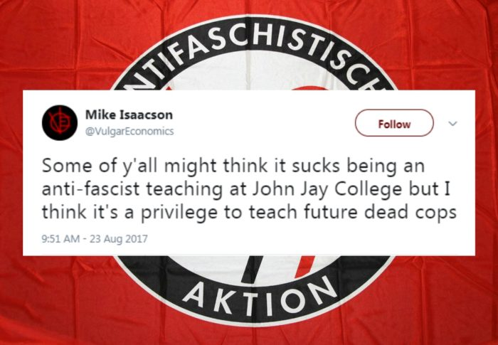 "Antifa leader is professor who repeatedly advocates for ""dead cops"""