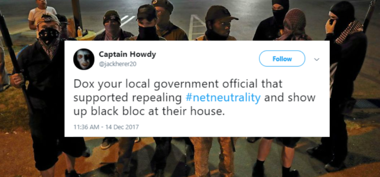 Antifa leader urges masked thugs to show up at Congressmen's homes