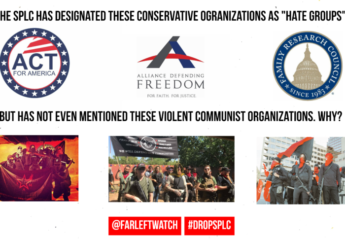 Three violent far-left groups that get a pass from the SPLC