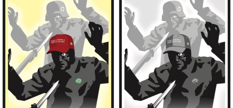 Antifa site distributes posters comparing Trump supporters to Nazis