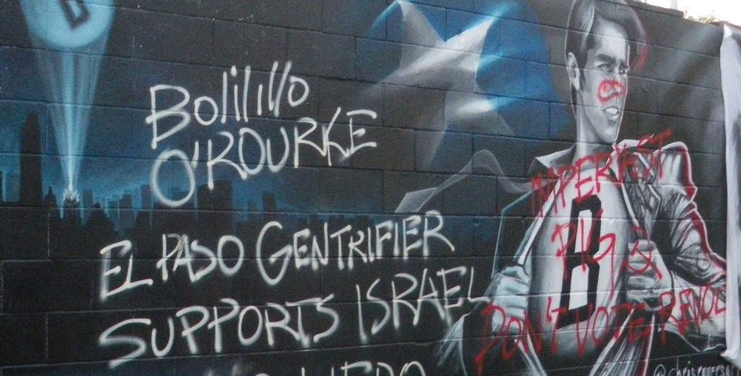 """Antifa calls Beto O'Rourke a """"Zionist Pig"""" and vandalizes a mural of him"""