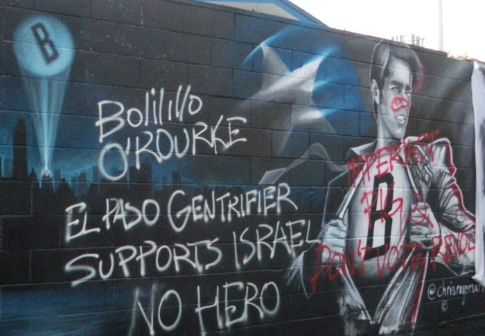 "Antifa calls Beto O'Rourke a ""Zionist Pig"" and vandalizes a mural of him"