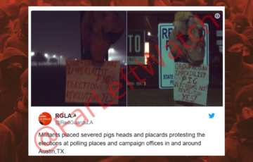 "Antifa puts severed pig heads at campaign offices, calls for ""people's war"""